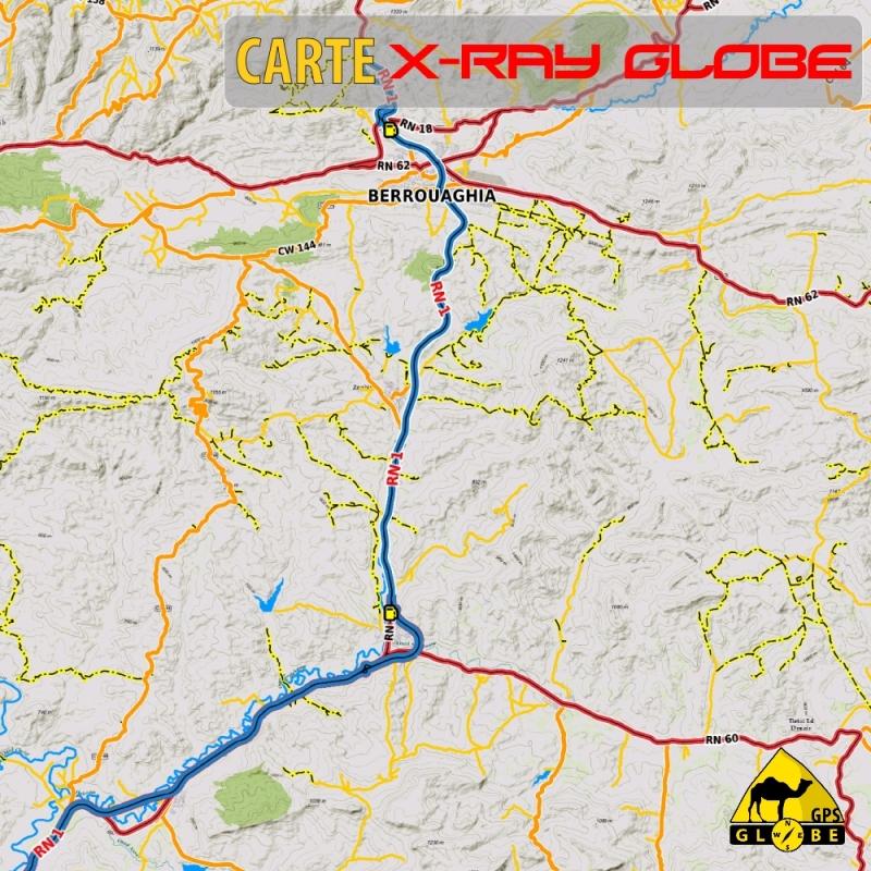 Algérie - X-Ray Globe - 1 : 100 000 TOPO Relief