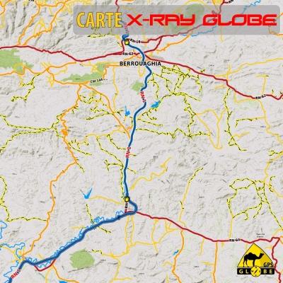 Algérie - X-Ray Globe - 1:100 000 TOPO Relief