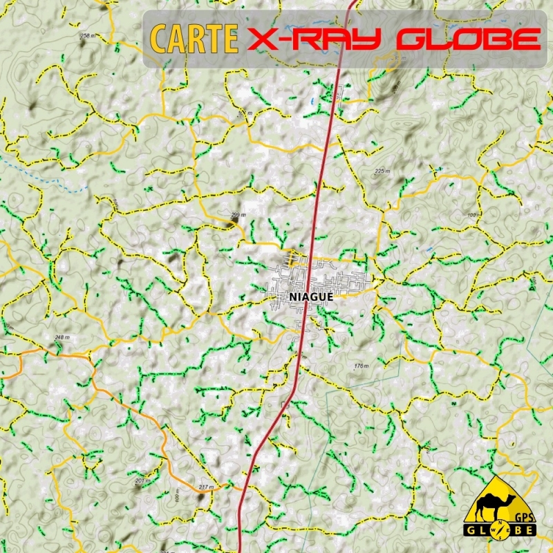 Côte d'Ivoire - X-Ray Globe - 1 : 30 000 TOPO Relief