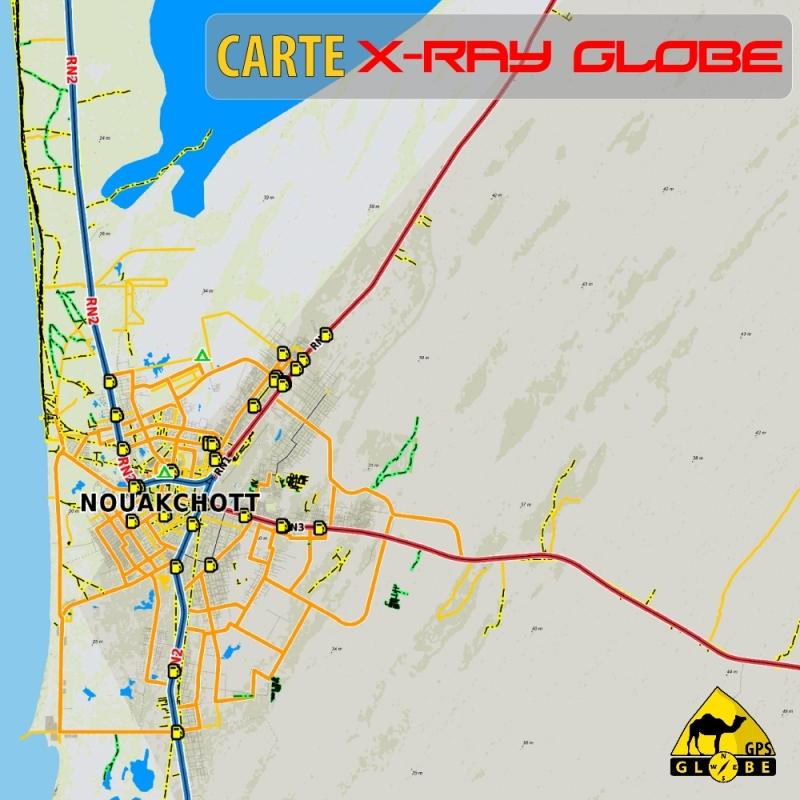 Mauritanie - X-Ray Globe - 1 : 100 000 TOPO Relief