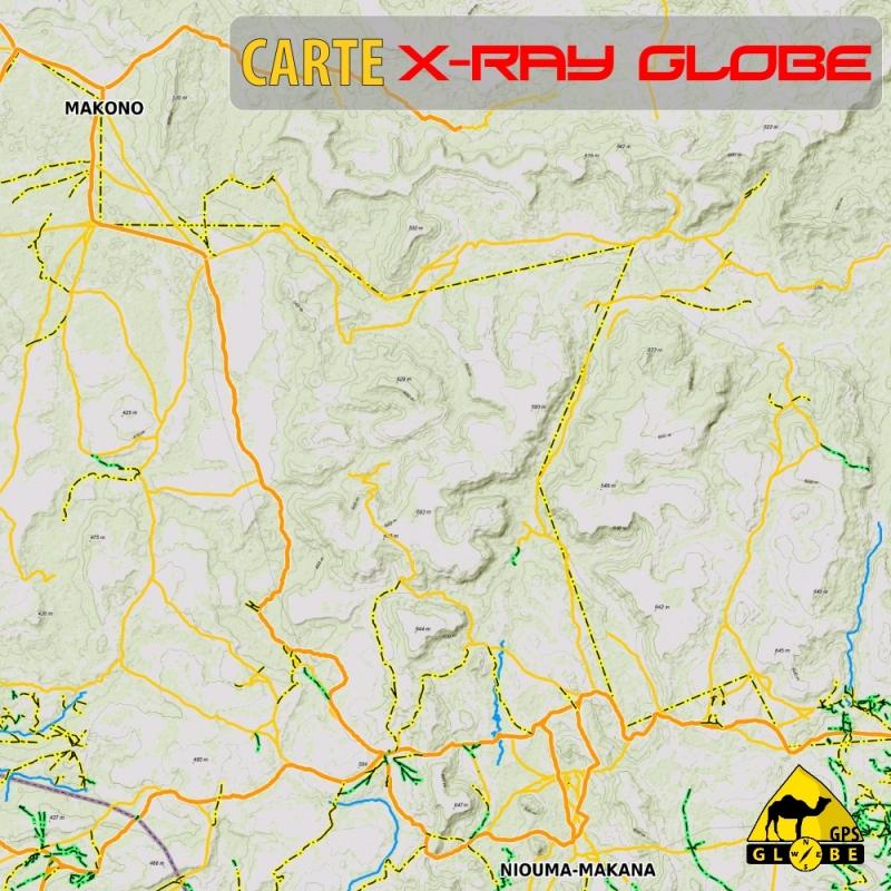 Mali - X-Ray Globe - 1 : 100 000 TOPO Relief