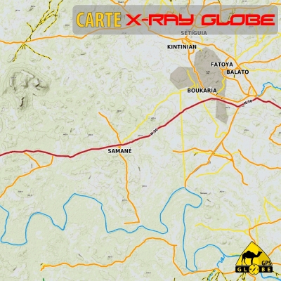 Guinée (Conakry) - X-Ray Globe - 1 : 100 000 TOPO Relief