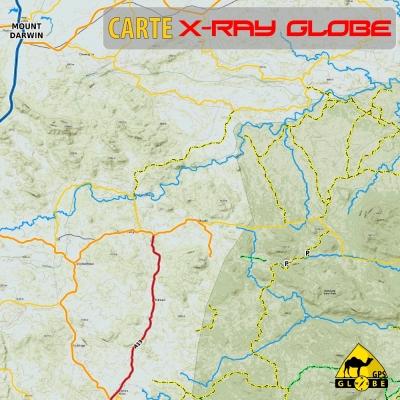 Zimbabwe - X-Ray Globe - 1 : 100 000 TOPO Relief
