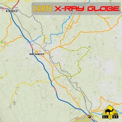 Kenya - X-Ray Globe 1 : 100 000 TOPO RELIEF