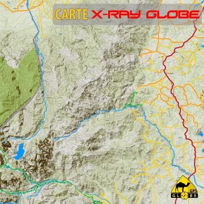 Ouganda - X-Ray Globe - 1 : 100 000 TOPO RELIEF