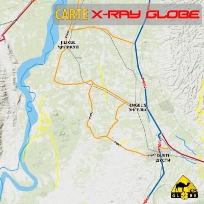 Tadjikistan - X-Ray Globe - 1 : 100 000 TOPO RELIEF