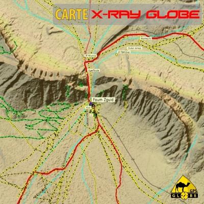 Maroc - X-Ray Globe - 1 : 100 000 TOPO Relief