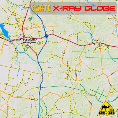 Bielorussie X-Ray Globe 1 : 100 000