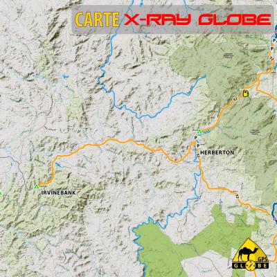Australie - X-Ray Globe - 1 : 100 000 TOPO Relief