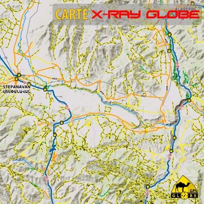 Arménie - X-Ray Globe - 1 : 100 000 TOPO Relief