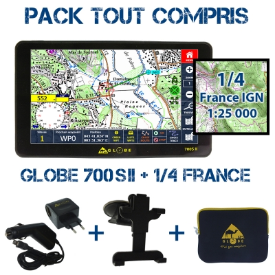 Pack Tout Compris Globe 700SII + 1/4 France IGN 25