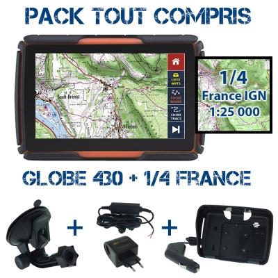 Pack Tout-compris Globe 430 + 1/4 de France IGN 25