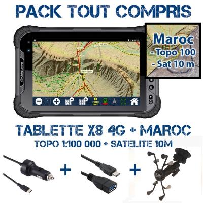 Tablette X8 4G Pack Navigation + Maroc
