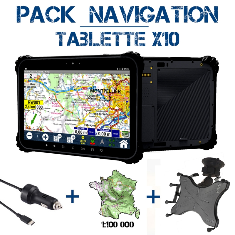 Tablette X10A Pack Navigation
