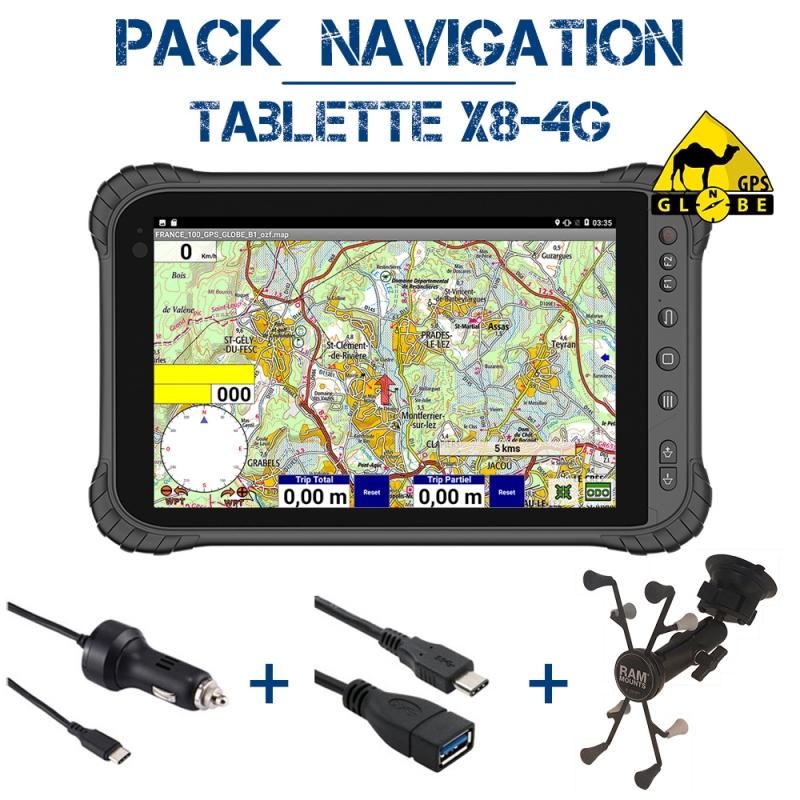Tablette X8 4G Pack Navigation OZI