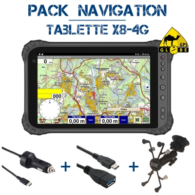 Tablette X8 4G Pack Navigation OZI