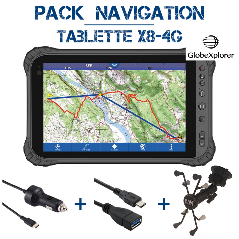 Tablette X8 4G Pack Navigation GXR