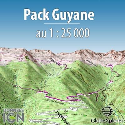 GlobeXplorer - Pack Guyanne - 1 : 25 000