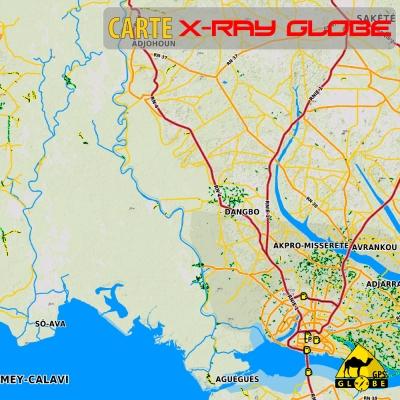 Bénin - X-Ray Globe - 1:100 000 TOPO Relief