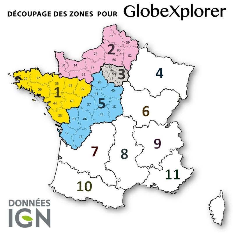 Quart de France Nord-Ouest 1:25 000 - GlobeXplorer