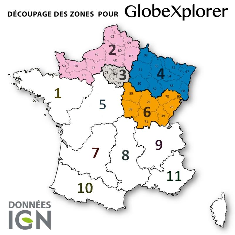 Quart de France Nord-Est 1:25 000 - GlobeXplorer