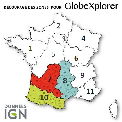 Quart de France Sud-Ouest 1:25 000 - GlobeXplorer