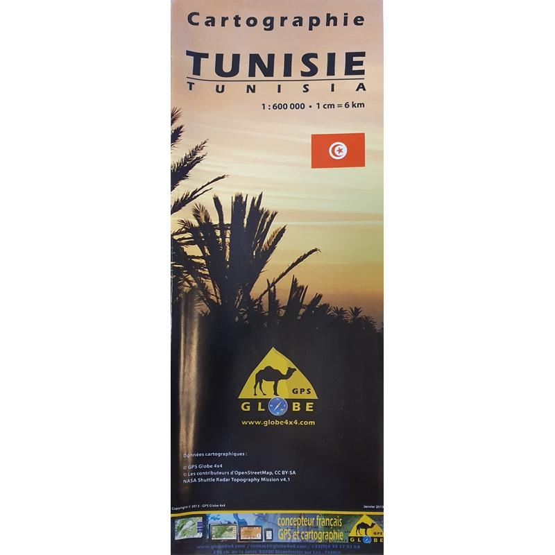 Tunisie - carte papier - 1 : 600 000