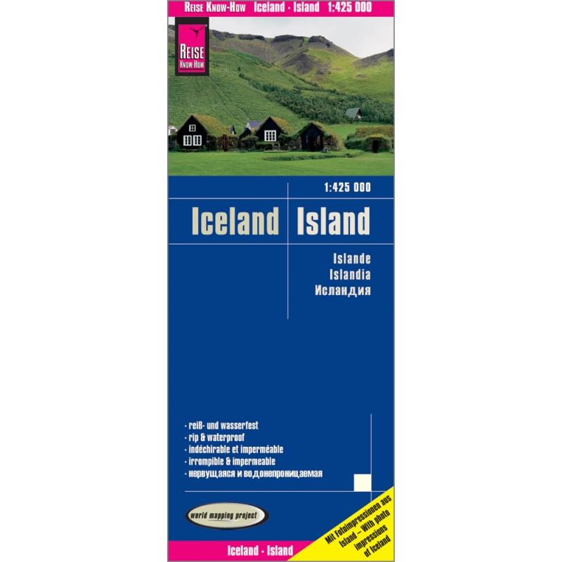 Islande - carte papier - 1 : 425 000