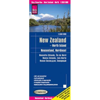Nouvelle Zélande Nord - carte papier - 1:550 000
