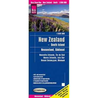 Nouvelle Zélande Sud - carte papier - 1 : 550 000