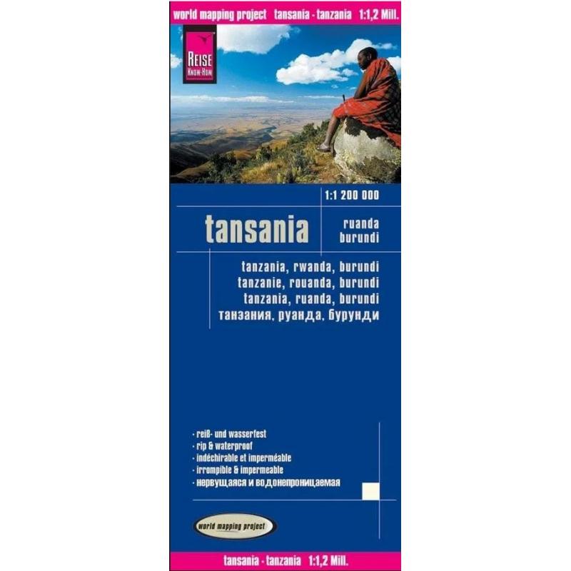 Tanzanie - carte papier - 1 : 1 200 000