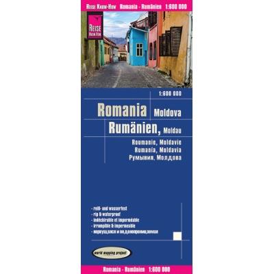 Roumanie - carte papier - 1 : 1 600 000