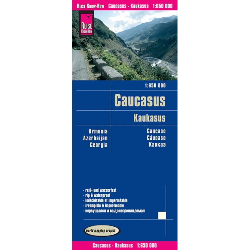 Caucase - carte papier - 1 : 1 650 000