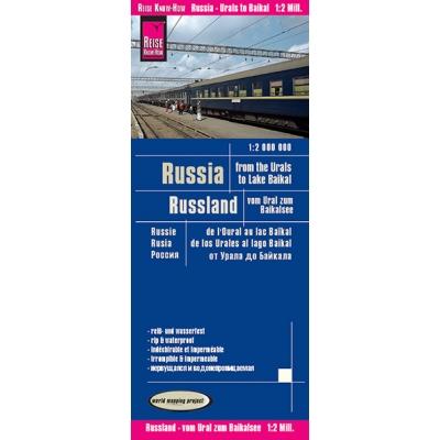 Russie Oural/Baikal - carte papier - 1 : 2 000 000