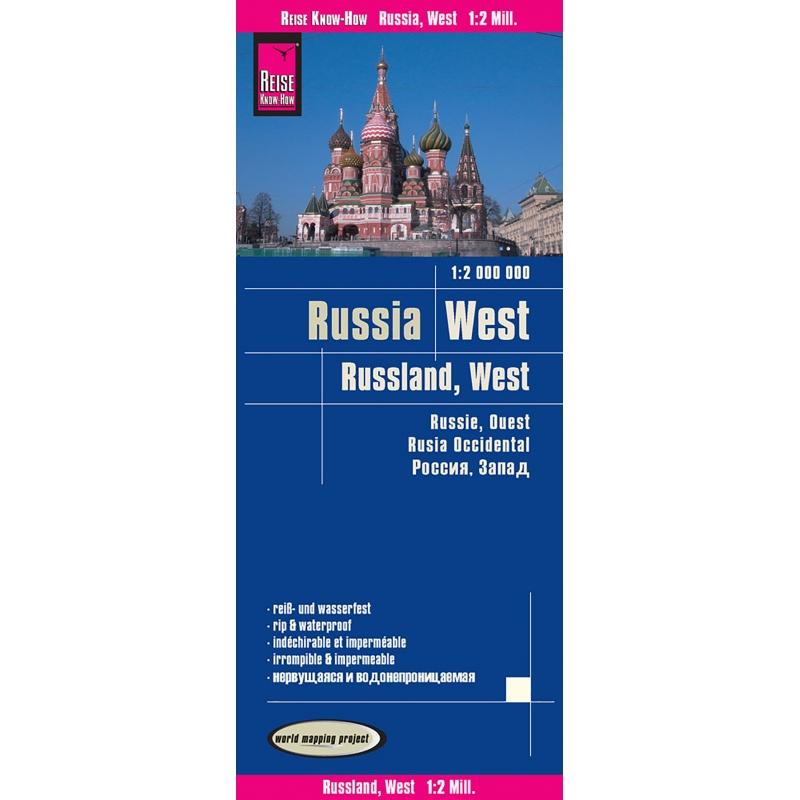 Russie Ouest- carte papier - 1 : 2 000 000