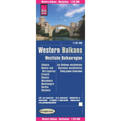 Balkans Occidentaux - carte papier - 1 : 725 000