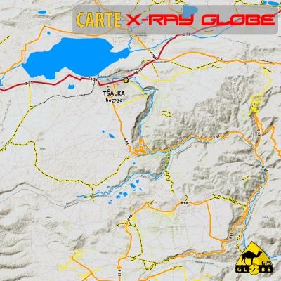 Géorgie - X-Ray Globe - 1:100 000 TOPO Relief