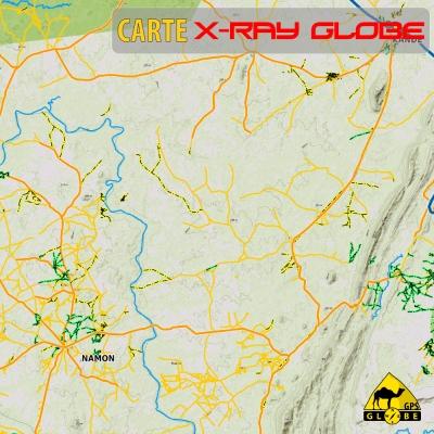 Togo - X-Ray Globe - 1:100 000 TOPO Relief