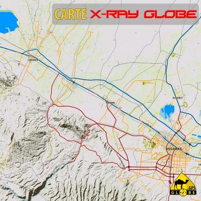 Turkmenistan - X-Ray Globe - 1 : 100 000 TOPO Relief