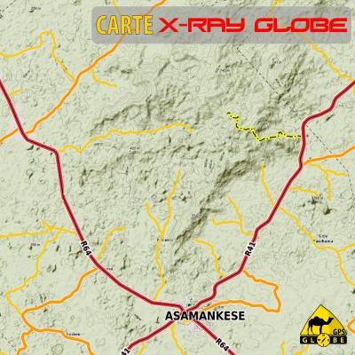 Ghana - X-Ray Globe - 1:30 000 TOPO Relief