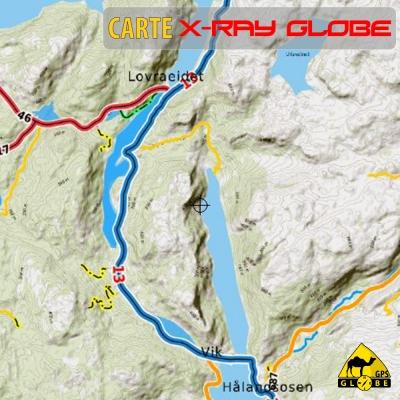 Norvège - X-Ray Globe 1:100 000 Relief