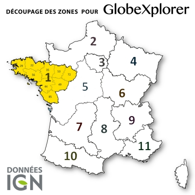 Carte IGN Zone 1 au 1 : 25 000 - GlobeXplorer