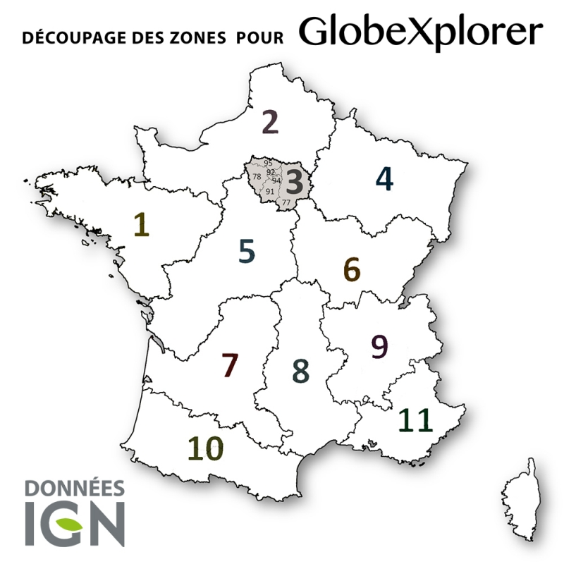 Carte IGN de la Zone 3 au 1 : 25 000 - GlobeXplorer